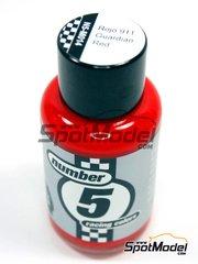 Number Five: Enamel paint - Guardian Red 911