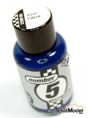 Number Five: Enamel paint - FW14 Blue