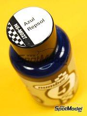 Number Five: Enamel paint - Repsol Blue