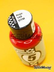 Number Five: Enamel paint - Red 155 DTM