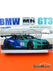 Nunu: Model car kit 1/24 scale - BMW M6 GT3 Falken Motorsports #33 - 24 Hours Nürburgring 2017 - plastic parts, rubber parts, water slide decals, assembly instructions and painting instructions