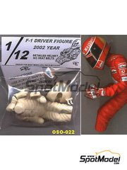 Figure 1/12 by Oso - F-1 DRIVER FIGURE YEAR 2002, Detailed Helmet, no seat belts image