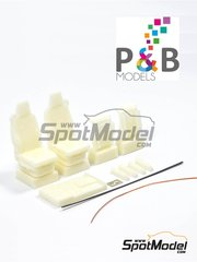 P and B Models: Detail up set 1/24 scale - Scania R Premium - photo-etched parts, resin parts and other materials - for Italeri references 3850, 3879, 3897, 3903, 3906 and 3930