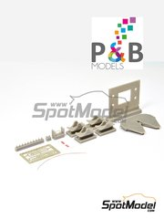 P and B Models: Detail up set 1/24 scale - Jost JSK 37 - photo-etched parts, resin parts, water slide decals and assembly instructions