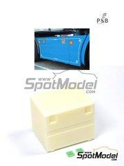 P and B Models: Detalle escala 1/24 - Cajón de herramientas de tamaño grande de tipo Europeo - piezas de resina