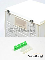 P and B Models: Lights 1/24 scale - Hella work lamps - resin parts - 4 units