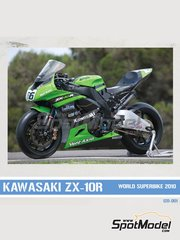 Pit Wall: Decals 1/12 scale - Kawasaki ZX-10R #5, 66, 77 - Superbike World Championship 2010 - for Fujimi kits FJ14133 and FJ14138