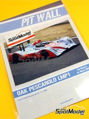 Pit Wall: Marking 1/24 scale - OAK Pescarolo LMP1 Gulf #15 - Tiago Monteiro (PT) + Guillaume Moreau (FR) + Pierre Ragues (FR) - 24 Hours Le Mans 2011 - water slide decals and assembly instructions - for SimilR kit SIMILR-151105