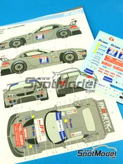 Calcas 1/24 Pit Wall - BMW Z4 GT3 DKR Engineering Nº 88 - GT Tour 2013 - para kits de Fujimi FJ125565, FJ125688 image