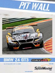 Pit Wall: Marking / livery 1/24 scale - BMW Z4 GT3 VDS Racing #40 - Bas Leinders (BE) + Maxime Martin (BE) + Marc Hennerici (DE) - 24 Hours SPA Francorchamps 2011 - for Fujimi references FJ126081, 126081 and RS-0