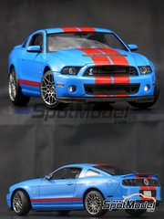 Plamoz: Transkit 1/24 scale - Shelby GT500 2013 - metal parts, photo-etched parts, resin parts, rubber parts, water slide decals and assembly instructions - for Revell references REV07044 and REV07243