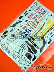 Platz: Spare part 1/24 scale - BMW M6 GT3: Decals - water slide decals - for Platz reference PN24001