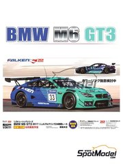 Platz: Model car kit 1/24 scale - BMW M6 GT3 Falken Motorsports #33 2017 - plastic parts, rubber parts, water slide decals, assembly instructions and painting instructions