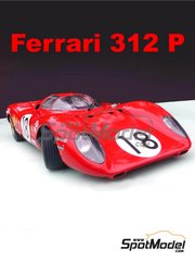 Profil24: Model car kit 1/12 scale - Ferrari 312P #18, 19 - David Piper (GB) + Pedro Rodriguez (MX), Chris Amon (NZ) + Peter Schetty (CH) - 24 Hours Le Mans 1969 - multimaterial kit image