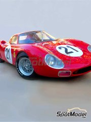 Profil24: Model car kit 1/12 scale - Ferrari 250 LM #21 - 24 Hours Le Mans 1965 - photo-etched parts, resin parts, rubber parts, vacuum formed parts, assembly instructions and painting instructions image