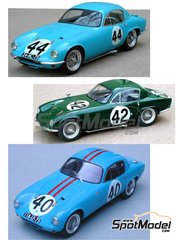Profil24: Model car kit 1/24 scale - Lotus Elite #40, 42, 44 - 24 Hours Le Mans 1959, 1960, 1961 and 1962 - resin multimaterial kit