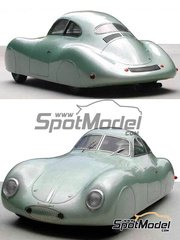Profil24: Model car kit 1/24 scale - Porsche 60K10 - Berlin - Roma 1939 - resin multimaterial kit