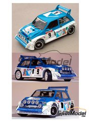 Profil24: Model car kit 1/24 scale - MG Metro 6R4 Group B Computervision Mobil #9 - Malcolm Wilson (GB), Nigel Harris (GB) - Tour de Corse 1986 - resin multimaterial kit