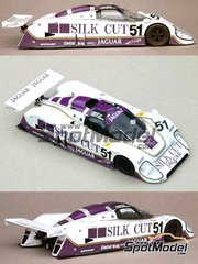 Profil24: Model car kit 1/24 scale - Jaguar XJR6 Long Tail Silk Cut #51 - Derek Warwick (GB) + Eddie Cheever (US) + Jean-Louis Schlesser (FR) - 24 Hours Le Mans 1986 - resin multimaterial kit
