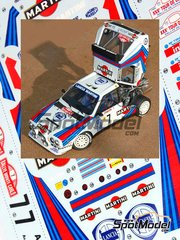 Profil24: Model car kit 1/24 scale - Lancia Delta S4 Group B Martini Racing #4, 6, 7 - Henri Toivonen (FI) + Sergio Cresto (US), Massimo 'Miki' Biasion (IT) + Tiziano Siviero (IT), Markku Alén (FI) + Ilkka Kivimäki (FI) - Montecarlo Rally, Tour de Corse 1986 - resin kit image