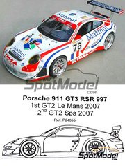 Profil24: Model car kit 1/24 scale - Porsche 911 997 GT3 RSR Matmut #76 - Patrick Long (US) + Richard Lietz (AT) + Raymond Narac (FR) - 24 Hours Le Mans 2007 - resin multimaterial kit