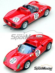 Profil24: Model car kit 1/24 scale - Ferrari 250P - 275P #22 - Sebring 1963 and 1964 - resin multimaterial kit