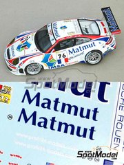 Profil24: Model car kit 1/24 scale - Porsche 911 997 GT3 RSR Matmut #76 - Patrick Long (US) + Richard Lietz (AT) + Raymond Narac (FR) - 24 Hours Le Mans 2008 - resin multimaterial kit