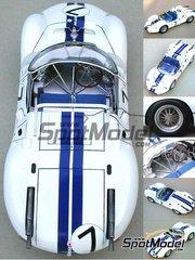 Profil24: Maqueta de coche escala 1/24 - Maserati Tipo 63 Nº 6, 7 - 24 Horas de Le Mans 1961 - maqueta de resina