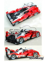 Profil24: Model car kit 1/24 scale - Audi R15 Plus #7, 8, 9 - Rinaldo Capello (IT) + Tom Kristensen (DK) + Allan McNish (GB), Marcel Fässler (CH) + André Lotterer (DE) + Benoît Tréluyer (FR), Timo Bernhard (DE) + Romain Dumas (FR) + Mike Rockenfeller (DE) - 24 Hours Le Mans 2010 - resin multimaterial kit