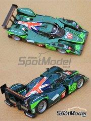 Profil24: Model car kit 1/24 scale - Lola B09/60 DBR1-2 Drayson Racing #8, 11 - Paul Dryson (GB) + Jonny Cocker (GB) - 24 Hours Le Mans 2010 - resin multimaterial kit