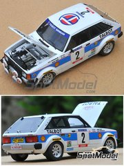Profil24: Model car kit 1/24 scale - Talbot Lotus Sunbeam #2, 8, 16 - Henri Toivonen (FI) + Fred Gallagher (IE), Guy Fréquelin (FR) + Jean Todt (FR), Guy Fréquelin (FR) + Jean Todt (FR) - Montecarlo Rally, Tour de Corse 1981 - resin multimaterial kit