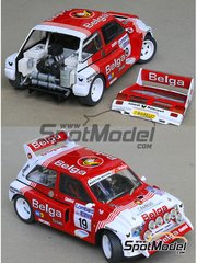 Profil24: Model car kit 1/24 scale - MG Metro 6R4 Belga #19 - Marc Duez (BE) + Willy Lux (BE) - RAC Rally 1986 - resin multimaterial kit