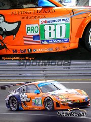 Profil24: Model car kit 1/24 scale - Porsche 997 GT3 RSR Flying Lizard Motorsports #80 - Jörg Bergmeister (DE) + Patrick Long (US) + Lucas Luhr (DE) - 24 Hours Le Mans 2011 - resin multimaterial kit