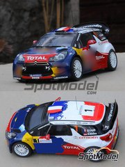 Profil24: Model car kit 1/24 scale - Citroen DS3 WRC Total #1, 2 - Sebastien Loeb (FR) + Daniel Elena (MC), Sébastien Ogier (FR) + Julien Ingrassia (FR) - ADAC Deutschland Rally 2011 - resin multimaterial kit