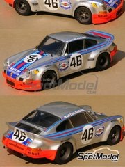 Profil24: Model car kit 1/24 scale - Porsche 911 Carrera Martini Racing #46 - Gijs van Lennep (NL) + Herbert Müller (CH) - 24 Hours Le Mans 1973 - resin multimaterial kit