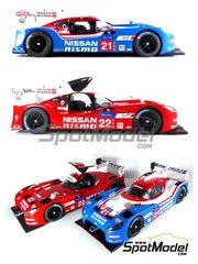 Profil24: Model car kit 1/24 scale - Nissan GT-R LM Nismo Nismo #21, 22, 23 - Tsugio Matsudo (JP) + Lucas Ordoñez (ES) + Mark Shulzhitskiy (RU), Alex Buncombe (GB) + Harry Tincknell (GB) + Michael Krumm (DE), Max Chilton (GB) + Jann Mardenborough (GB) + Olivier Pla (FR) - 24 Hours Le Mans 2015 - resin kit image