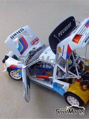 Profil24: Model car kit 1/24 scale - Peugeot 205 Turbo 16 Evo 2 #1, 4, 8 - Timo Salonen (FI) + Seppo Harjanne (FI), Juha Kankkunen (FI) + Didier Pironi (FR), Bruno Saby (FR) - Montecarlo Rally 1986 - multimaterial kit