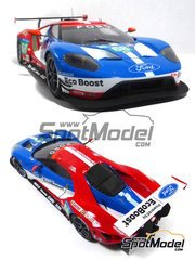 Profil24: Model car kit 1/24 scale - Ford GT #66, 67, 68, 69 - 24 Hours Daytona, 24 Hours Le Mans 2016 - photo-etched parts, resin parts, rubber parts, seatbelt fabric, vacuum formed parts, water slide decals and assembly instructions