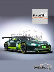 Profil24: Model car kit 1/24 scale - Aston Martin V8 Vantage GTE Aston Martin Racing #95, 97 - Marco Sorensen (DK) + Richie Stanaway (NZ) + Nicki Thiim (DK), Jonny Adam (GB) + Daniel Serra (BR) + Darren Turner (GB) - 24 Hours Le Mans 2017 - photo-etched parts, resin parts, rubber parts, seatbelt fabric, vacuum formed parts, water slide decals, other materials, assembly instructions and painting instructions