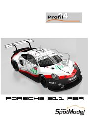 Profil24: Model car kit 1/24 scale - Porsche 911 RSR Porsche Motorsport GT Team #93, 94 - Patrick Pilet (FR) + Earl Bamber (AU) + Nick Tandy (GB), Romain Dumas (FR) + Timo Bernhard (DE) + Sven Müller (DE) - 24 Hours Le Mans 2018 - resin parts, vacuum formed parts, water slide decals, assembly instructions and painting instructions