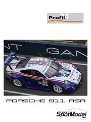 Profil24: Model car kit 1/24 scale - Porsche 911 RSR Porsche Motorsport GT Team Rothmans #91 - Gianmaria Bruni (IT) + Richard Lietz  (AT) + Frédéric Makowiecki (FR) - 24 Hours Le Mans 2018 - resin parts, vacuum formed parts, water slide decals, assembly instructions and painting instructions