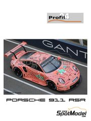 Profil24: Model car kit 1/24 scale - Porsche 911 RSR Porsche Motorsport GT Team Pink Pig #92 - Kevin Estre (FR) + Michael Christensen  (DK) + Laurens  Vanthoor  (BE) - 24 Hours Le Mans 2018 - resin parts, vacuum formed parts, water slide decals, assembly instructions and painting instructions