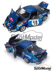 Provence: Model car kit 1/43 scale - Renault Alpine A110 - Montecarlo Rally 1973 - resin multimaterial kit