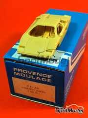 Provence: Model car kit 1/43 scale - Lamborghini Countach LP400 1972 - resin multimaterial kit