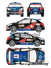 Racing Decals 43: Decals 1/24 scale - Peugeot 207 S2000 Astra #11 - Montecarlo Rally - Rallye Automobile de Monte-Carlo 2011 - for Belkits reference BEL-001