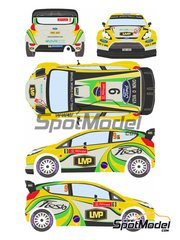 Racing Decals 43: Decals 1/24 scale - Ford Fiesta WRC LMP #9 - Daniel Oliveira (BR) + Carlos Magalhães (PT) - Portugal Rally 2012 - for Belkits reference BEL-003 image