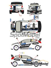 Racing Decals 43: Decals 1/24 scale - Ford Fiesta WRC Castrol Edge #3, 4 - Petter Solberg (NO) + Chris Patterson (GB), Jari-Matti Latvala (FI) + Miikka Anttila (FI) - 1000 Lakes Finland Rally 2012 - for Belkits reference BEL-003