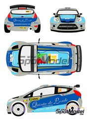 Racing Decals 43: Decals 1/24 scale - Ford Fiesta S2000 Quinta do Lorde #24 - Bernardo Sousa (PT) + Paulo Babo (PT) - ADAC Deutschland Rally 2011 - for Belkits reference BEL-002