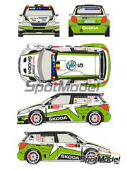 Racing Decals 43: Decals 1/24 scale - Skoda Fabia S2000 Evo Total #5 - Freddy Loix (BE) + Frederic Miclotte (BE) - Ypres Rally 2013 - for Belkits references BEL-004 and BEL004