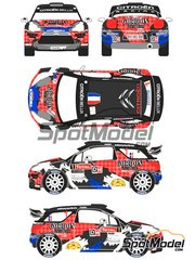 Racing Decals 43: Decals 1/24 scale - Citroen DS3 WRC Gordon #1 - Sebastien Loeb (FR) - Condroz Rally 2013 - for Heller references 80757 and 80758